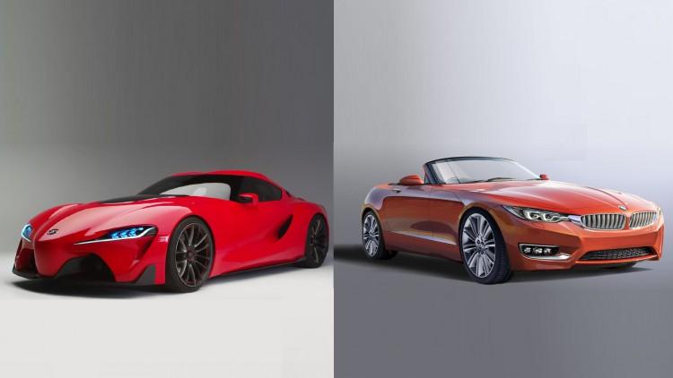 BMW Z4 и Toyota Supra