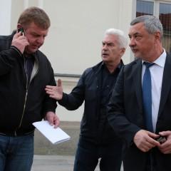Красимир Каракачанов, Волен Сидеров и Валери Симео | Качено на 04.04.2017 в 14:45 часа | БТА