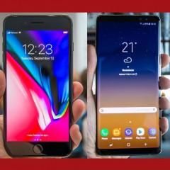 iPhone 8 Plus и Samsung Galaxy Note 8
