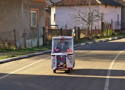 Електромобилът на Дядо Тодор от белоградчишкото село Гюргич